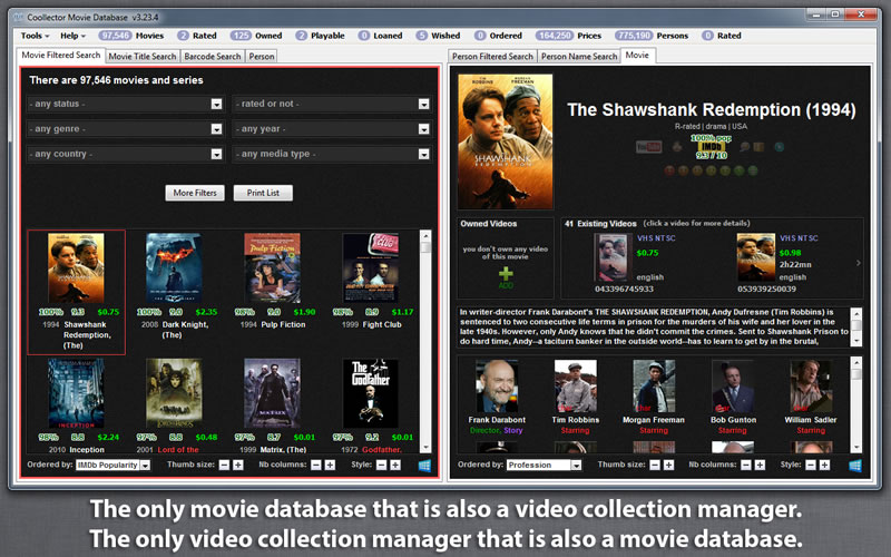 Click to view Coollector Movie Database 2.99.3 screenshot