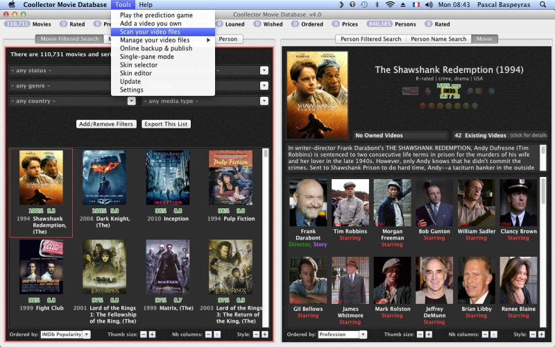 coollector movie database recommendations collection